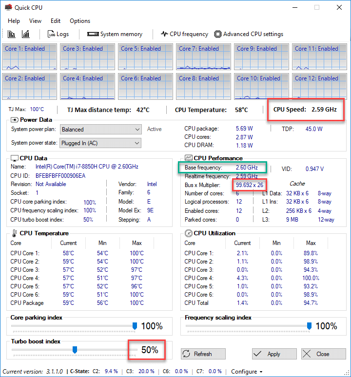 Quick CPU Turbo boost