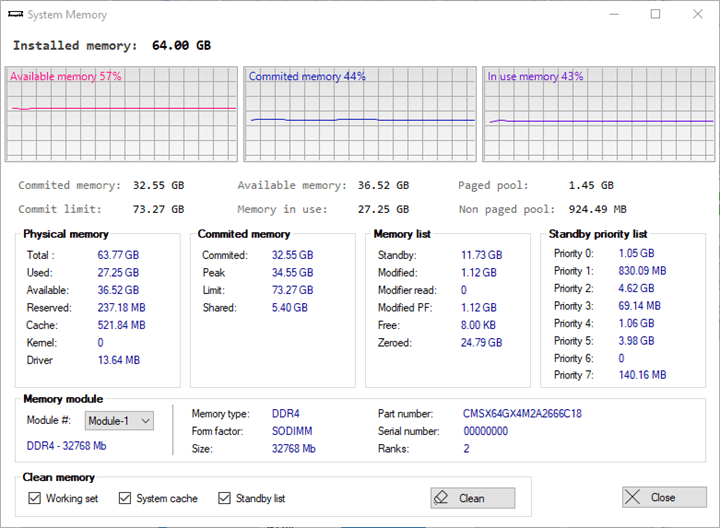 Quick CPU Memory Settings